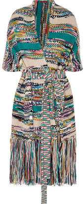 Missoni Fringed Wool-blend Wrap