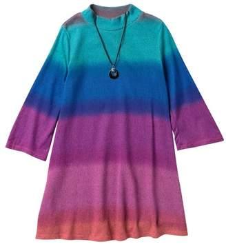 673a1d9fdfc My Michelle mymichelle Color Block Mock Neck Dress   Necklace (Big Girls)