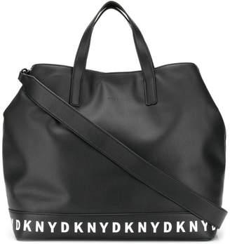 DKNY logo taped tote