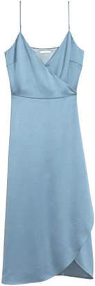 H&M Satin Wrap Dress - Blue