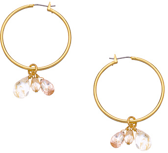 A.V. Max Gold Cluster Hoop Earrings