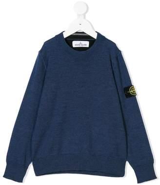 Stone Island Junior logo patch sweatshirt