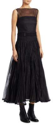 Loewe Cotton Pleated Gown