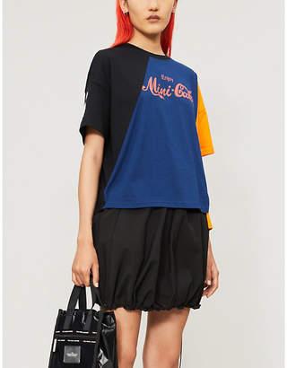 Mini Cream Slogan-print cotton-jersey T-shirt