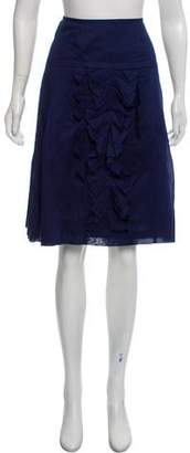 Christian Lacroix Pleated Knee-Length Skirt