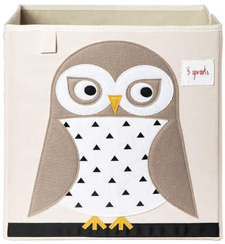 3 Sprouts Owl Fabric Storage Cube