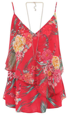 George Layered Camisole with Necklace