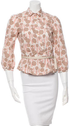 Mulberry Floral Button-Up Top $65 thestylecure.com