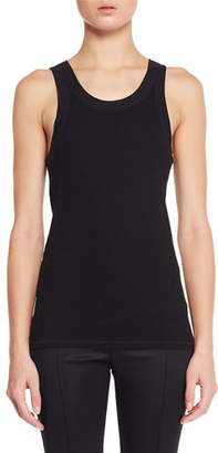 The Row Frankie Sleeveless Crewneck Rib-Knit Tank Top