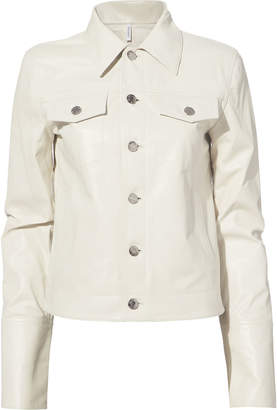 Helmut Lang White Leather Jacket