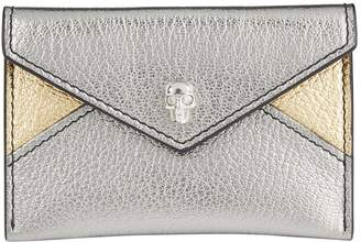 Alexander McQueen Metallic Leather Envelope Card Holder