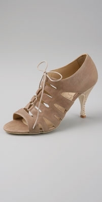LD Tuttle The Tramp Open Toe Lace Up Pump