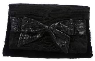Nancy Gonzalez Crocodile-Trimmed Bow Clutch