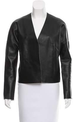 J Brand Open Leather Jacket