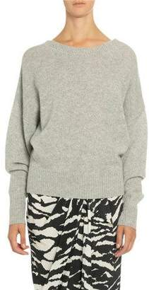 Isabel Marant Cashmere Slouched Button-Back Sweater