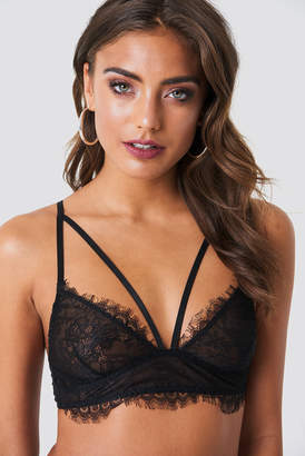 036c8e896f NA-KD Scalloped Lace Strap Bra Black
