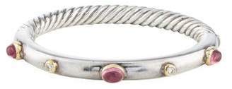 David Yurman Pink Tourmaline & Diamond Bracelet
