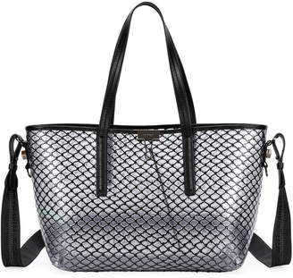 Off-White Off White PVC Net Shopper Tote Bag, Black