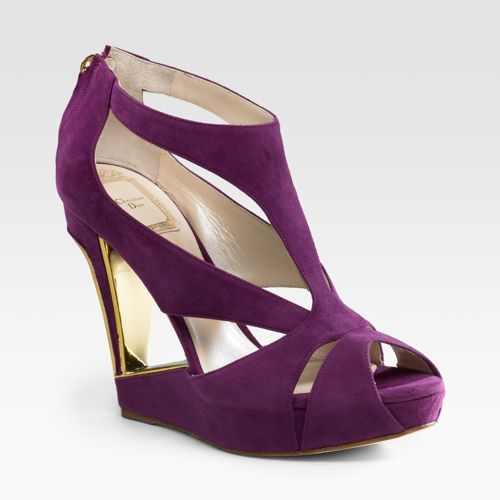Dior Couture Suede Wedge Sandals
