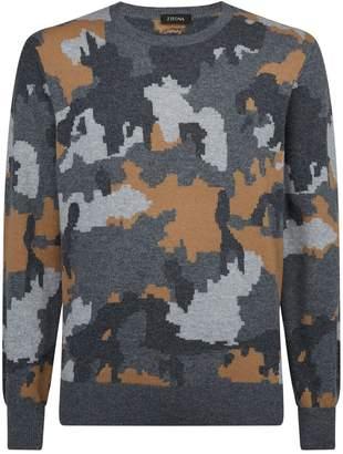 Ermenegildo Zegna Cashmere Camouflage Sweater