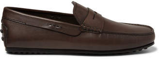Tod's City Gommino Leather Penny Loafers - Men - Brown