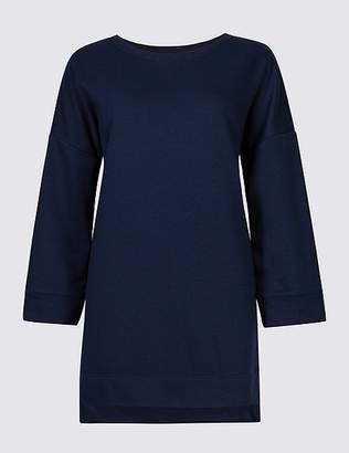 Marks and Spencer Cotton Rich Longline Sweatshirt