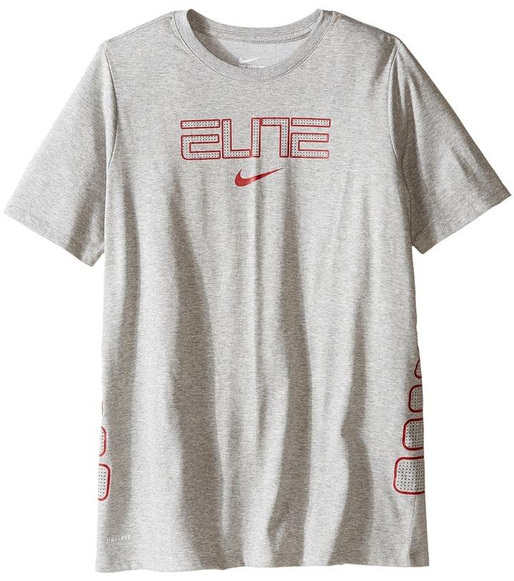 Nike Kids Dry Elite Basketball T-Shirt (Little Kids/Big Kids)