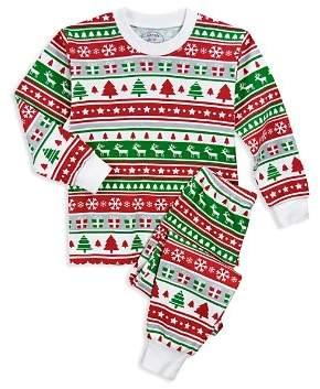 Sara's Prints Unisex Fair Isle Holiday Pajama Shirt & Pants Set - Little Kid