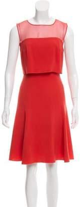 Oscar de la Renta Silk Draped Dress