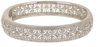NADRI All-Around Crystal Scalloped Bangle $138 thestylecure.com
