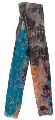 Yigal Azrouel Abstract Print Woven Scarf