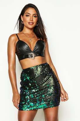 boohoo All Over Sequin Mini Skirt