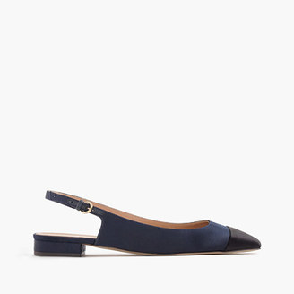 Slingback flats in satin $128 thestylecure.com