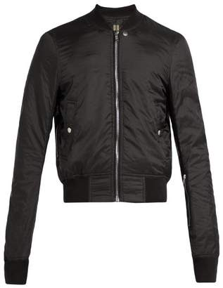 Rick Owens Glitter Shell Bomber Jacket - Mens - Black