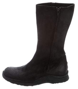 CNC Costume National Suede Mid-Calf Boots