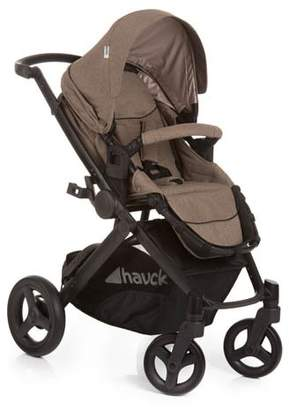 Hauck Maxan 4 Plus Trio Set 4 Wheel Travel System, from Birth to 22 Kg, Melange Sand/Beige (Group 0+ Car seat, Compatible with Optional ISOFix Base, Carrycot and Raincover)
