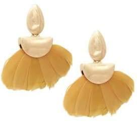 Ava & Aiden Feather Half Moon Drop Earrings