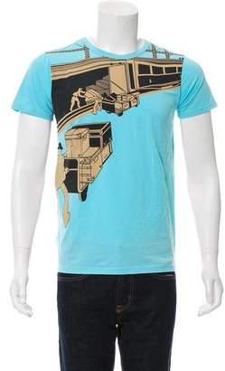 Louis Vuitton Crew Neck Graphic Print T-Shirt