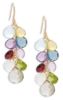 Multicolored Semi-Precious Drop Earrings