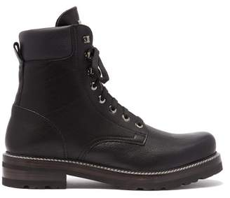 Montelliana Marc Lace Up Leather Ankle Boots - Mens - Black