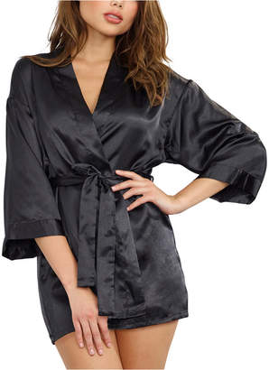 Dreamgirl Satin Robe and Chemise Nightgown Set