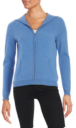 Lord & Taylor Hooded Zip-Up Cashmere Sweater $240 thestylecure.com