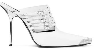 Alexander Wang Minna Metal-trimmed Mules - White