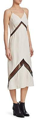 Helmut Lang Women's Chevron Lace Slip Dress