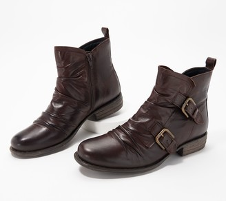 Miz Mooz Leather Buckle Ankle Boots - Leslie