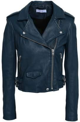 IRO Ashville Brushed-leather Biker Jacket