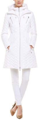 Dawn Levy 2 White Quilted Hooded Coat