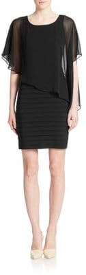 Adrianna Papell Asymmetrical Overlay Sheath Dress
