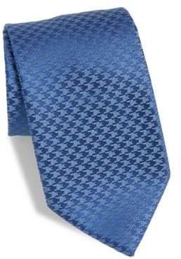 Charvet Houndstooth Silk& Linen Tie