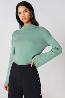 NA-KD Na Kd High Neck Wide Sleeve sweater